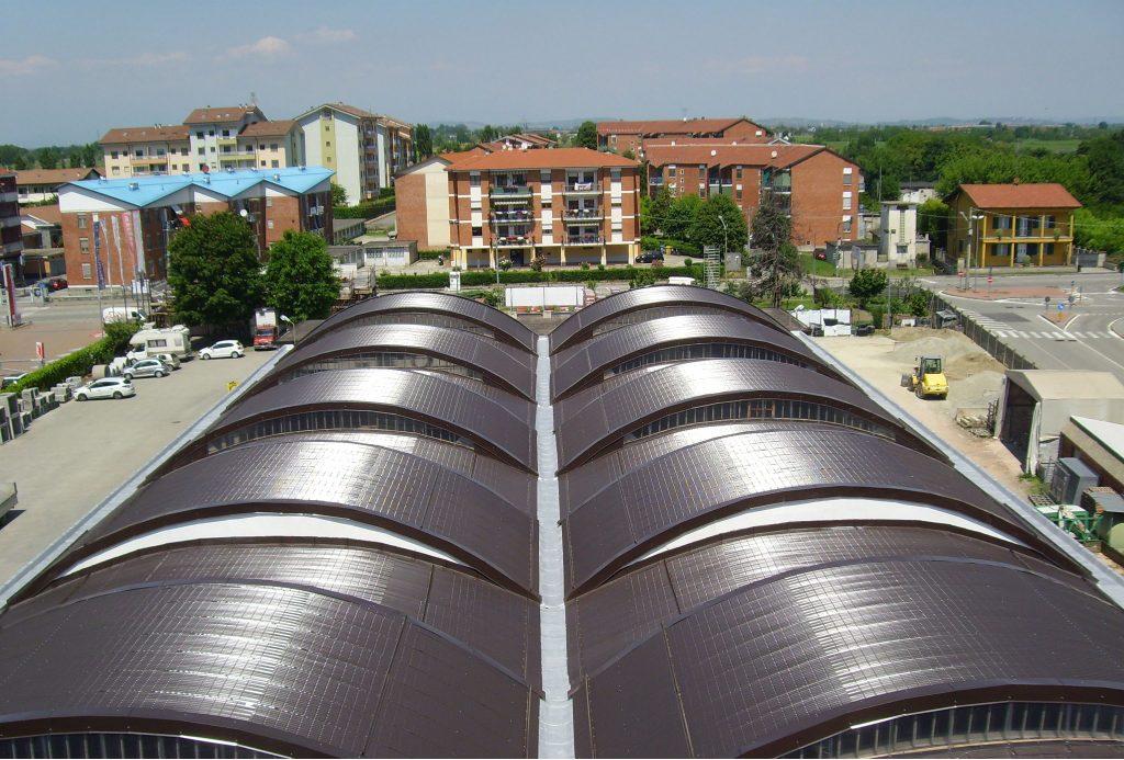 Copertura metallica tetto industriale